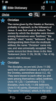 Screenshot of The Bible Dictionary