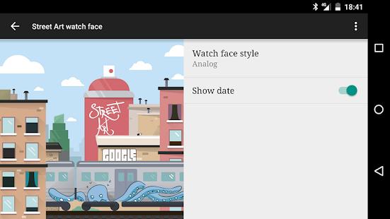 Street Art watch face Screenshot