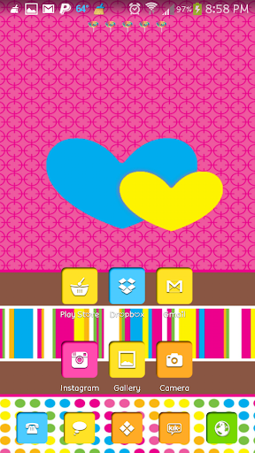 Candy Girl Go Launcher Theme