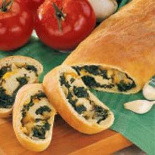 Spinach-Stuffed Bread.