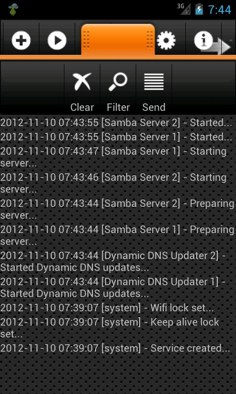 Samba Server - screenshot