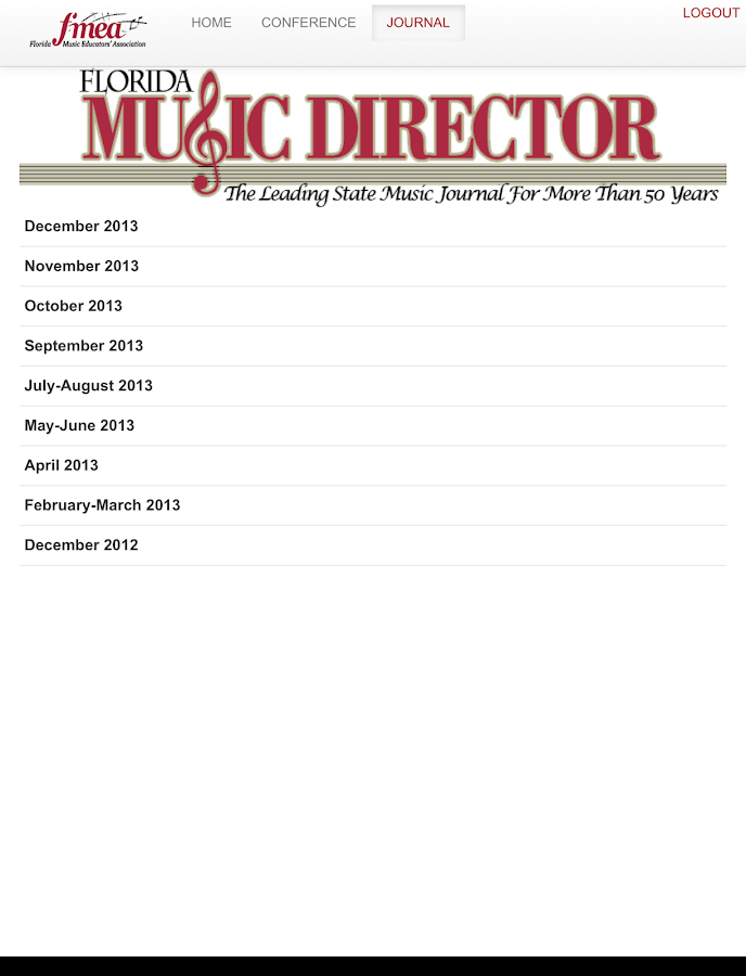 FMEA Florida Music Educators- screenshot