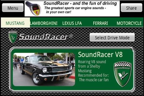 SoundRacer FREE Car Sounds