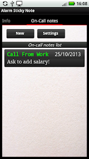 Alarm Sticky Note (reminder)- screenshot thumbnail