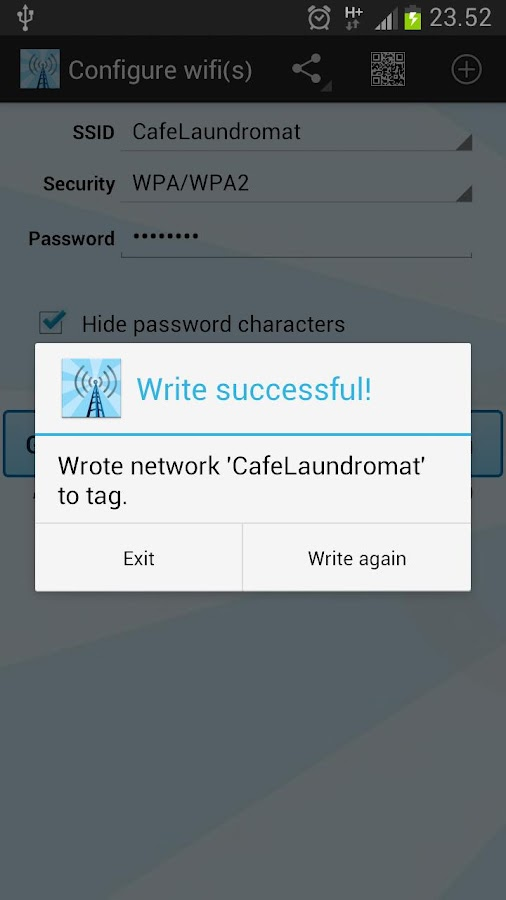 Instant NFC WiFi + Notify - screenshot