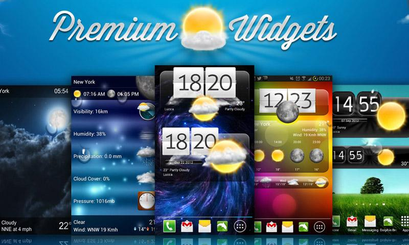 Premium Widgets HD - screenshot