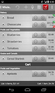 Mighty Shopping List Free screenshot 1