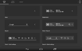Screenshot of Atom All in One Widgets