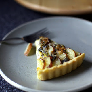 Blue Cheese and Red Potato Tart.