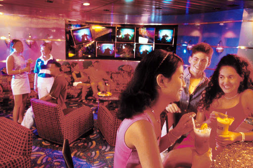 Adventure-of-the-Seas-Fuel-Disco - Teens have their own space at a teen disco on deck 12 of Adventure of the Seas.
