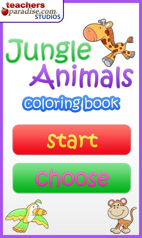 Jungle Animals Coloring Book- screenshot