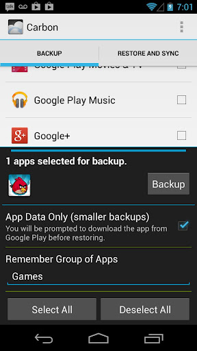 Helium - App Sync and Backup 1.1.4.6 screenshots 2