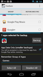 Helium - App Sync and Backup– captură de ecran miniatură