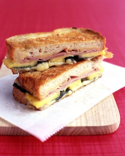 Grilled Ham and Cheese with Pineapple Recipe