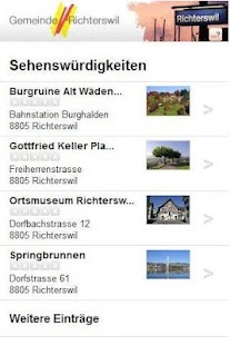 Cityguide Richterswil - screenshot thumbnail