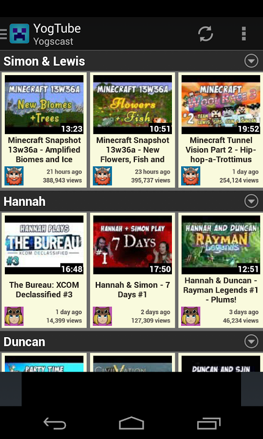 YogTube - Yogscast Tube - screenshot