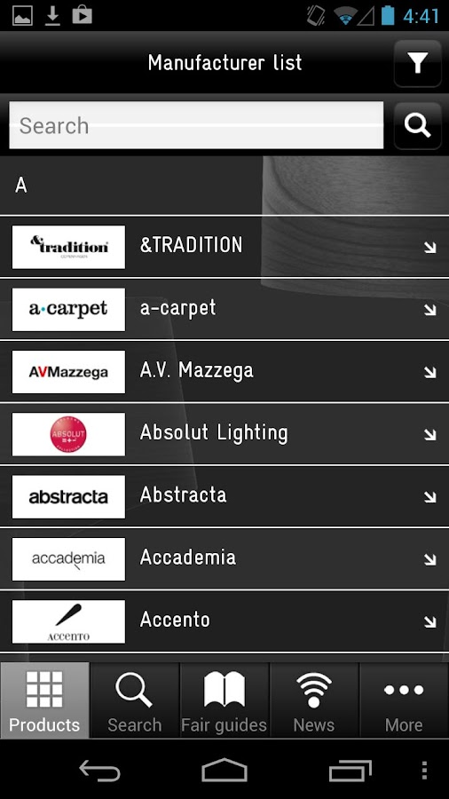 Architonic App- screenshot