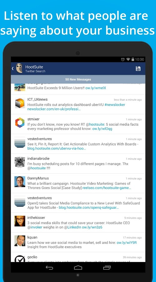 Hootsuite for Twitter & Social - screenshot