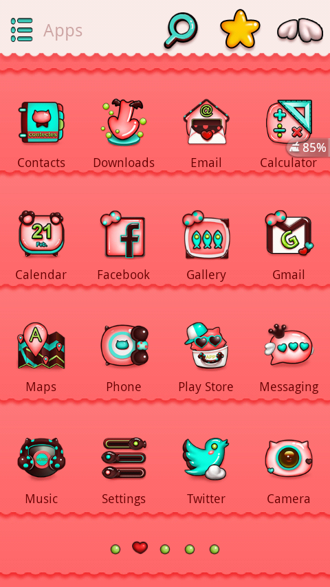Meow Meow GO Launcher Theme- screenshot