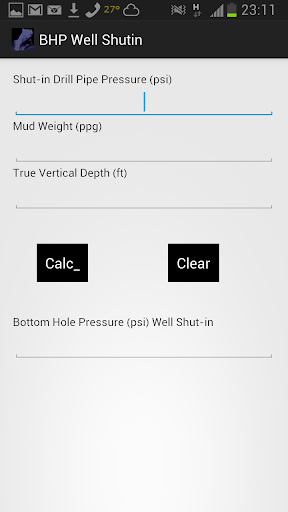 BHPressure with Well Shut in