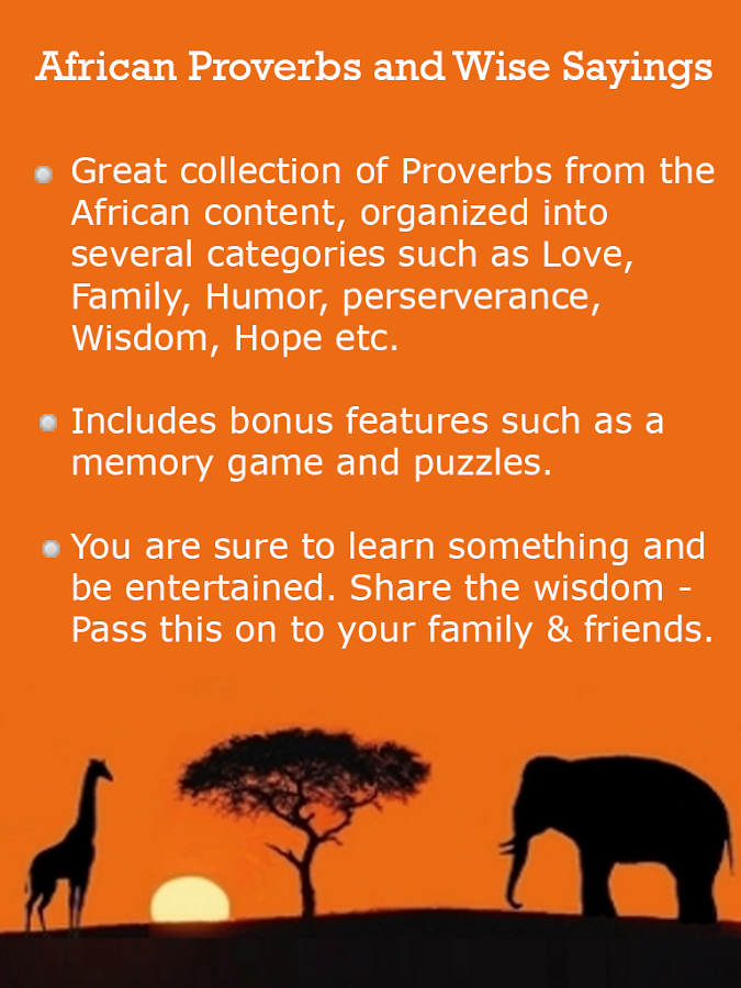 Africa Proverbs & Wise Sayings - Android Apps on Google Play