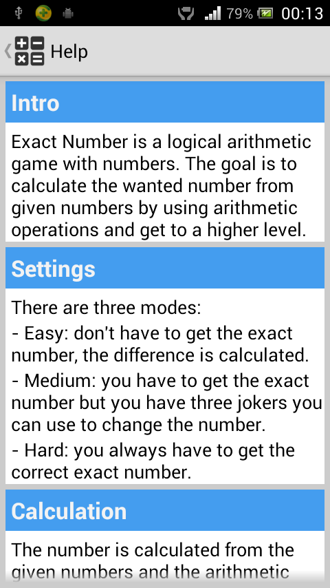 Exact Number - screenshot