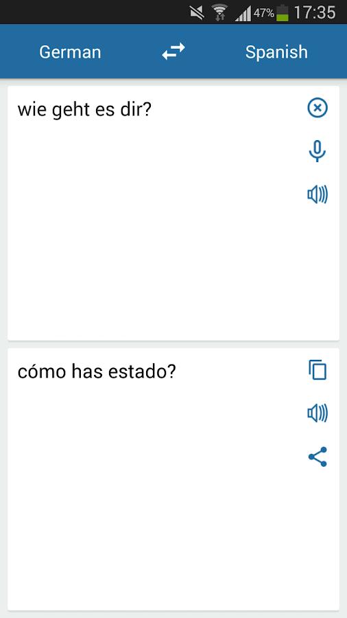 Google übersetzter Spanisch Deutsch