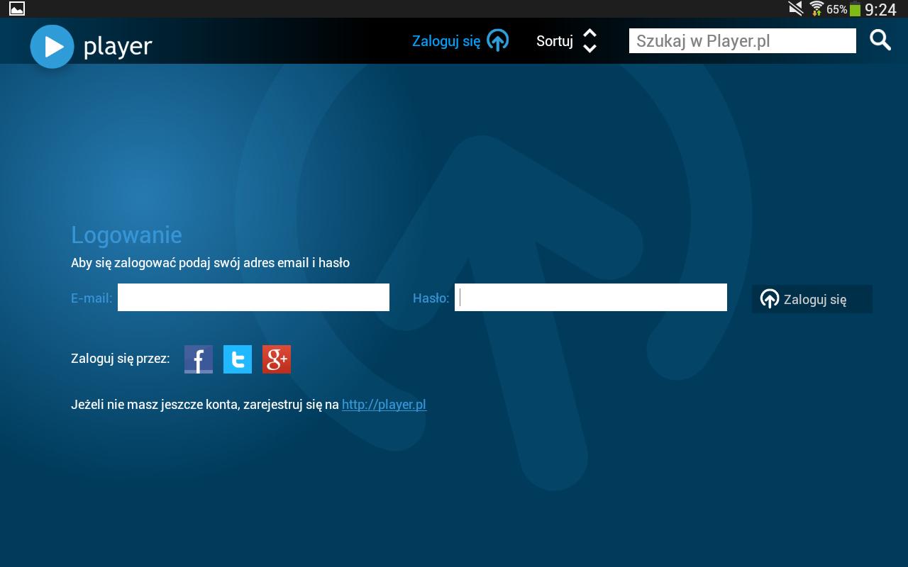 player (tablet)- screenshot