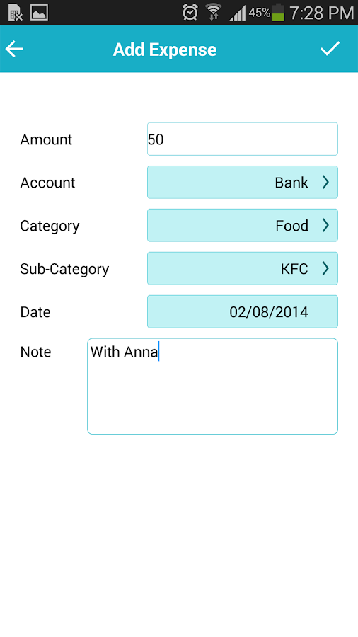 Expense Manager - Saving money - screenshot