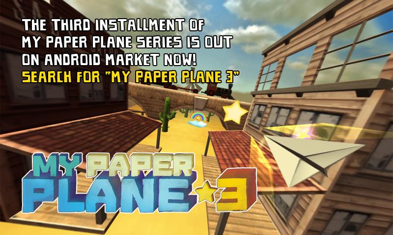 My Paper Plane 2 (3D) - screenshot