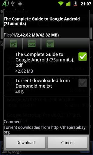 aDownloader 1.0.9.2 screenshots 1