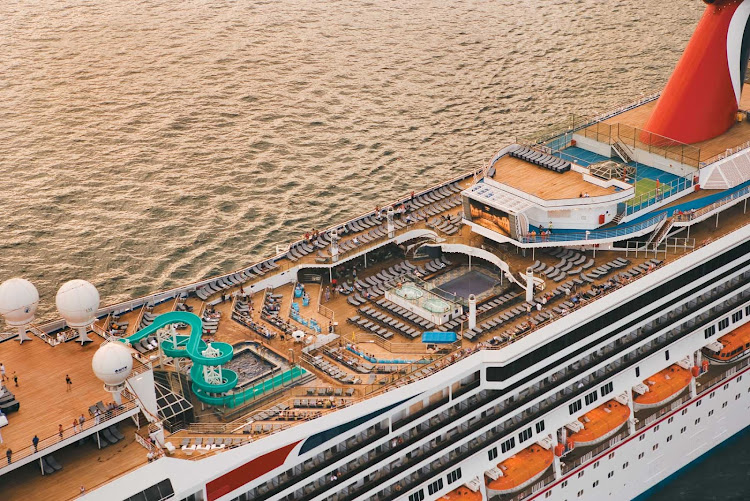 View Of The Top Deck Of Carnival Liberty Which Sails Out Of San - Pictures of carnival liberty cruise ship