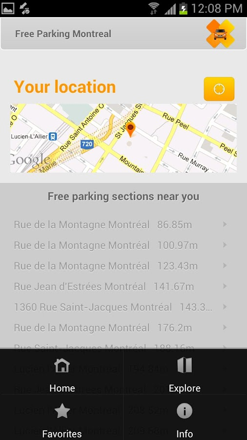 Free Parking Montreal - screenshot