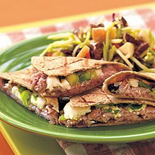 Grilled Ham and Mango Quesadillas.