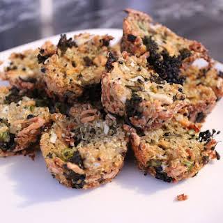 Broccoli 'Cheddar' Quinoa Mini-Muffins.