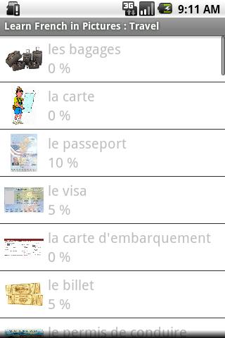 French in Pictures: Trip Trial- screenshot
