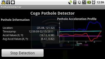 Screenshot of Pothole Detector