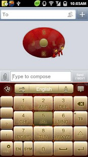 GO Keyboard Fortune Dragon Screenshot 7