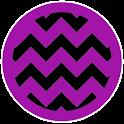 Chevron Black Purple Theme icon