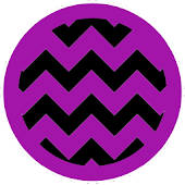 Chevron Black Purple Theme