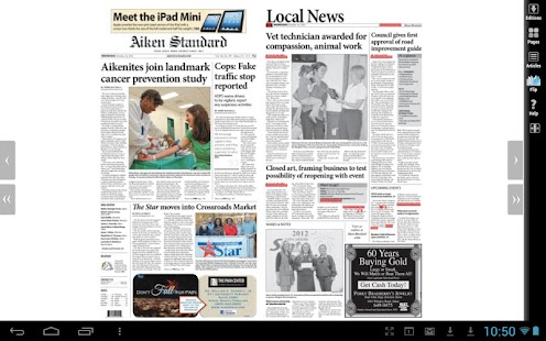 Aiken Standard newspaper - screenshot thumbnail