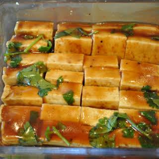 Creamy Satay Soup with Tasty Baked Tofu.