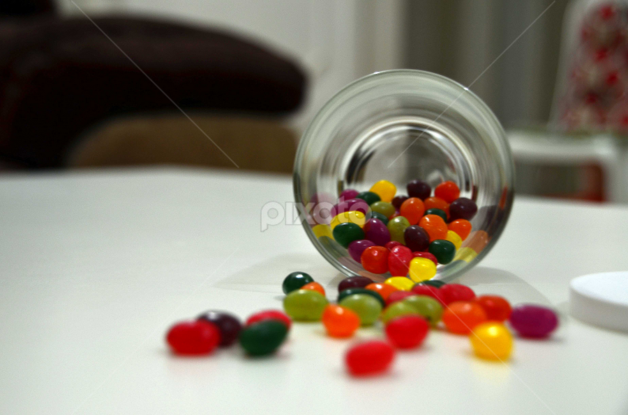 Jellybeans by Rodolfo Dela Cruz - Food & Drink Candy & Dessert ( colors, candies, glass, jellybean, dessert )