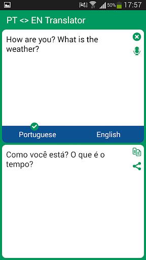 Portuguese - English Translato