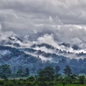 Exhailing Clouds  by Pritam Saha - Landscapes Mountains & Hills ( nature, color, cloud, landscape, pheonix,  )