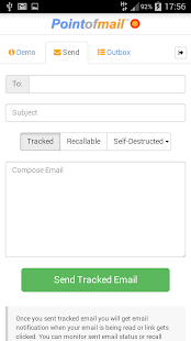 Pointofmail Email Tracking- screenshot thumbnail