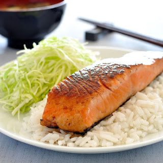 Japanese Salmon with Mirin and Soy Sauce.
