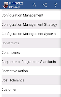 PRINCE2 Glossary - screenshot thumbnail
