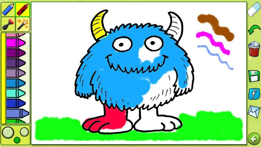 Coloring Book - Cartoons Free- screenshot