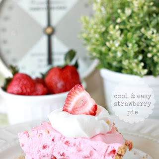 Cool & Easy Strawberry Pie with Homemade Graham Cracker Crust.